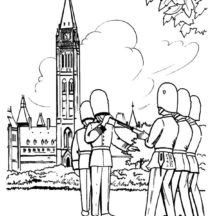 Canada Day Police Officer Coloring Pages