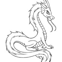 Charming Chinese Dragon Coloring Pages