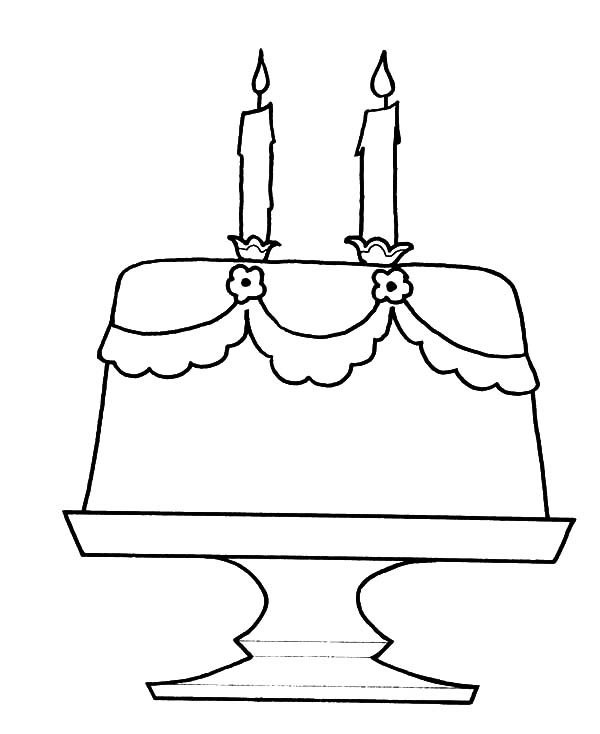 Cheese Flavoured Birthday Cake Coloring Pages