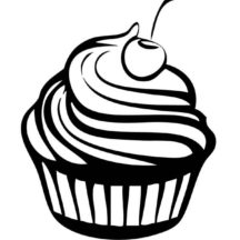 Cherry Cupcakes Coloring Pages