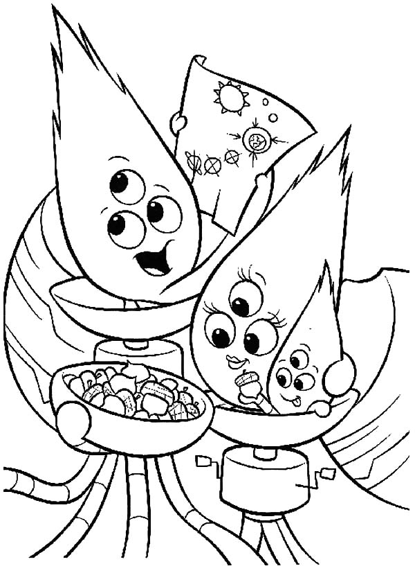 Chicken Little Alien Family Coloring Pages