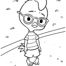 Chicken Little Frowning Coloring Pages