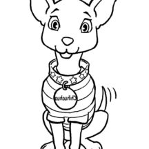 Chihuahua Dog Fashion Show Coloring Pages