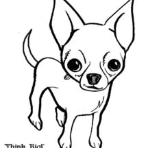 Chihuahua Dog Think Big Coloring Pages