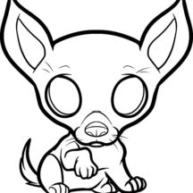 Chihuahua Puppy Dog Coloring Pages