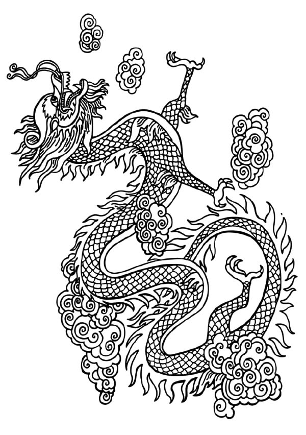 Chinese Dragon Coloring
