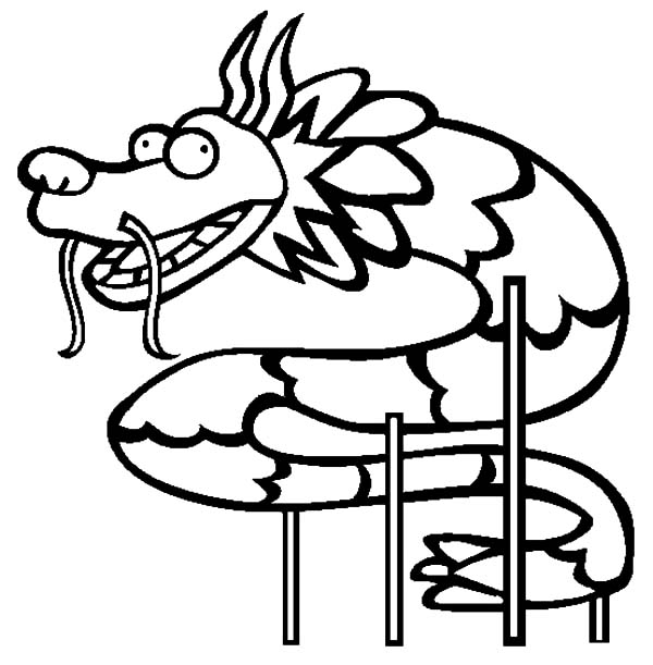 Chinese Dragon Dance Coloring Pages