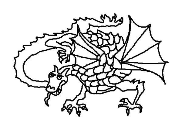 Chinese Dragon Fire Breath Coloring Pages