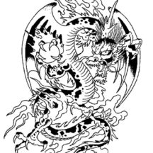 Chinese Dragon Holding Crystal Ball Coloring Pages
