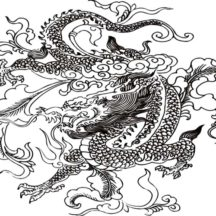 Chinese Dragon Sent from Heaven Coloring Pages