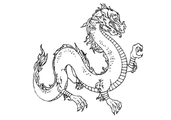 Chinese Dragon Sharp Claws Coloring Pages