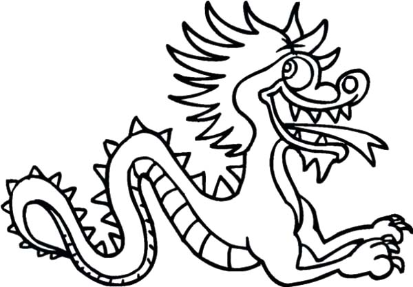 Chinese Dragon Silly Face Coloring Pages