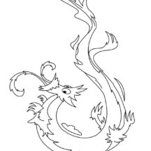 Chinese Dragon is Surprised Coloring Pages