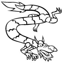 Chinese Year of Dragon Coloring Pages