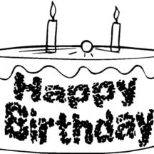 Chocolate Birthday Cake Coloring Pages