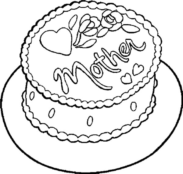 Chocolate Cake for My Mother Coloring Pages