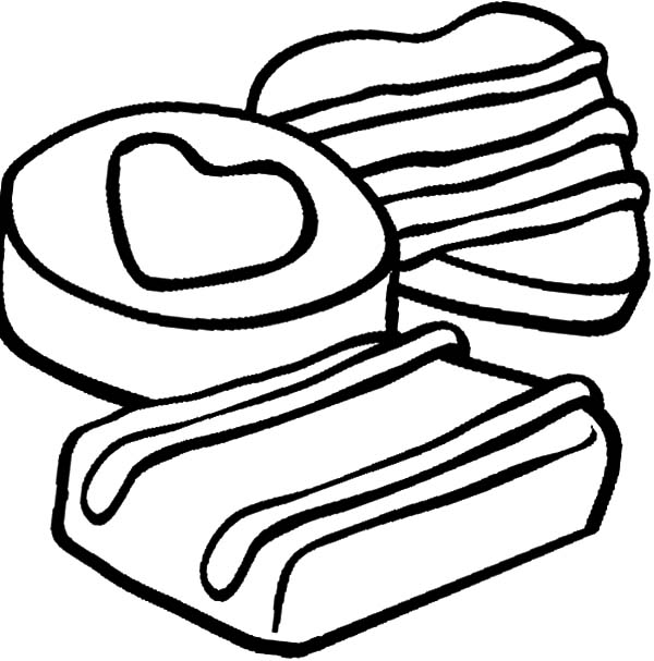 Chocolate Chip Cookie and Cake Coloring Pages