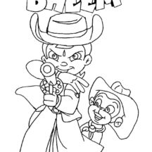 Chota Bheem Aiming with Pistol Coloring Pages