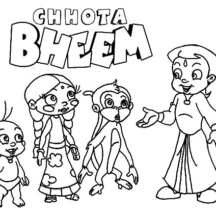 Chota Bheem Explain His Plan Coloring Pages