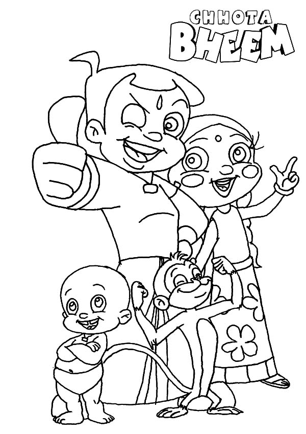 Chota Bheem Mission is Complete Coloring Pages