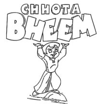 Chota Bheem Strong Boy Coloring Pages
