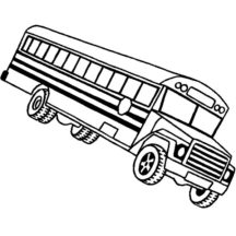 City Bus Almost Turn Upside Down Coloring Pages