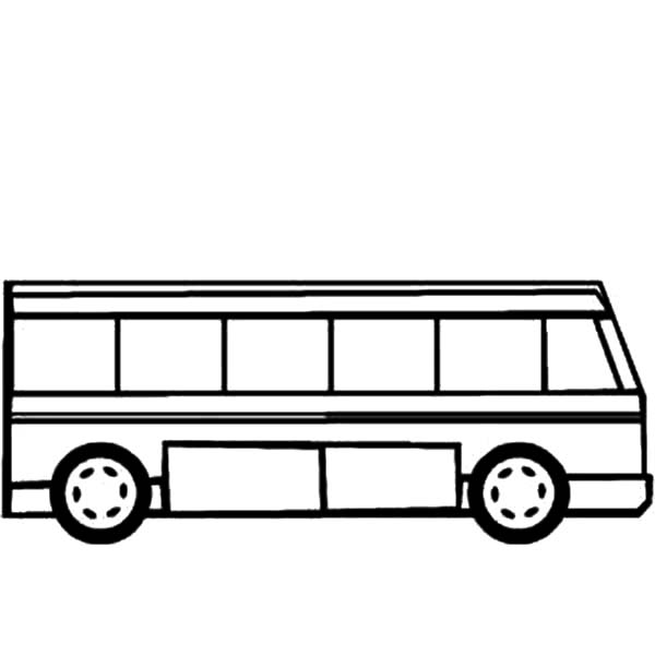 City Bus Side Layout Coloring Pages
