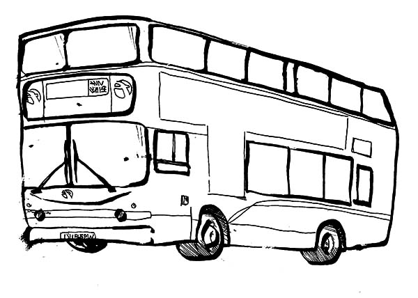 City Bus Sketch Coloring Pages