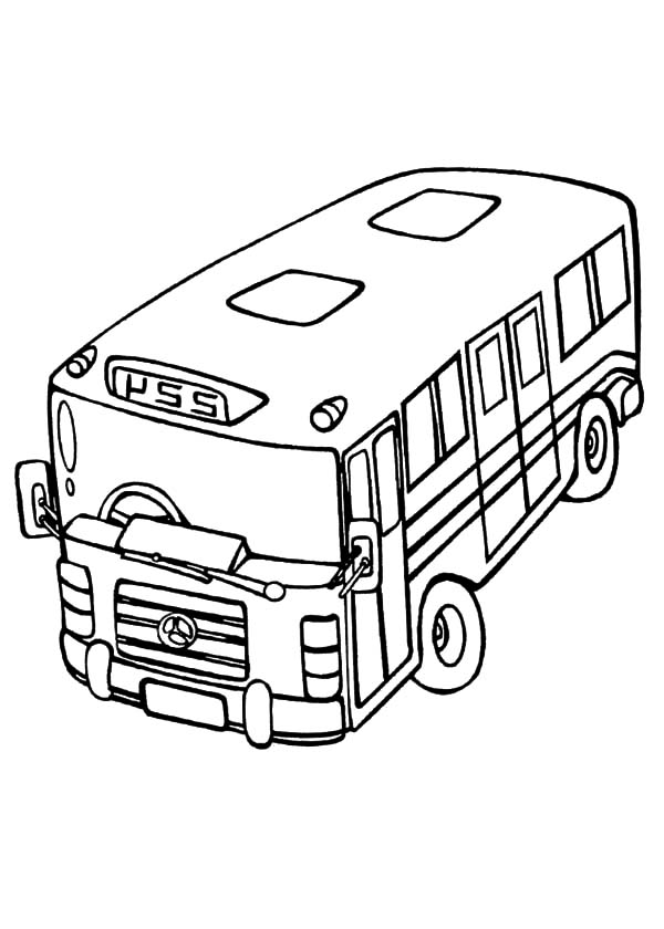 City Bus Top View Coloring Pages