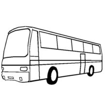 City Bus Turn Left Side Coloring Pages