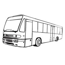 City Bus on Operation Coloring Pages