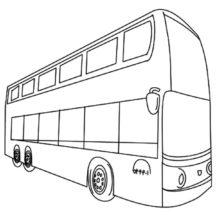 City Main Transportation City Bus Coloring Pages