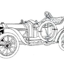 Classic Car Collection Coloring Pages