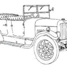 Classic Car Coloring Pages for Kids