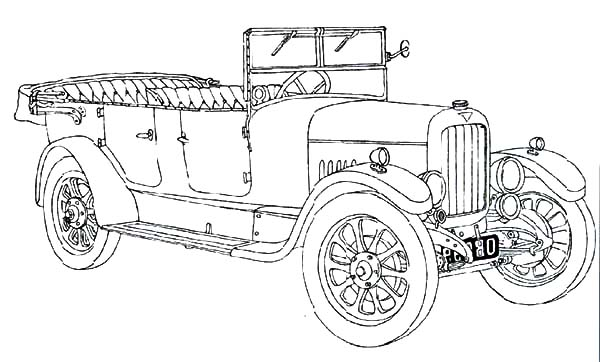 Classic Car Coloring Pages for Kids - NetArt