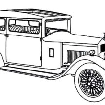 Classic Car Design Coloring Pages