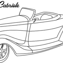Classic Car Ford Cabriole Coloring Pages