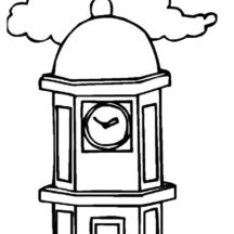 Clock Tower Coloring Pages