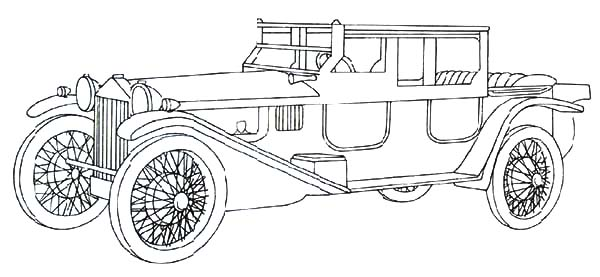 Collector Classic Car Coloring Pages