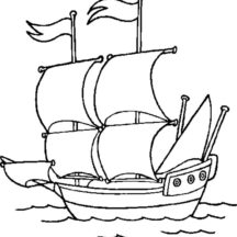 Colonial Cruise Ship Coloring Pages