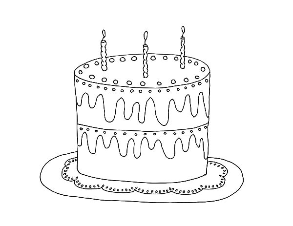 Cooking Birthday Cake Coloring Pages