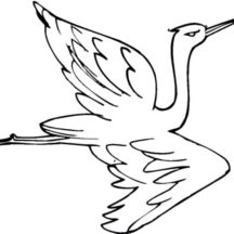 Crane Bird Flying Coloring Pages