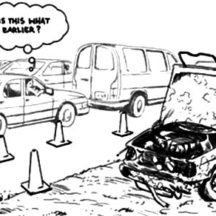 Crashed Cars on the Side of the Street Coloring Pages