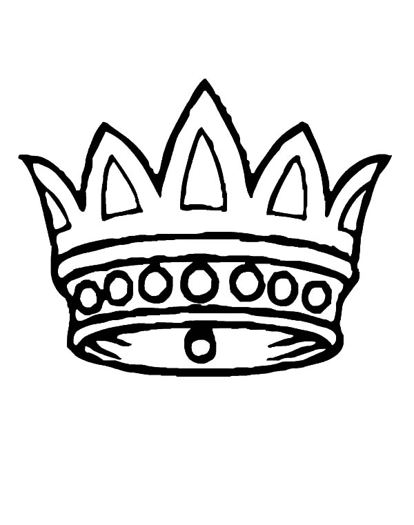 Crown Coloring Pages for Kids