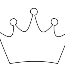 Crown Outline Coloring Pages