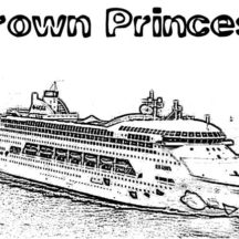 Crown Princess Cruise Ship Coloring Pages