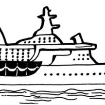 Cruise Ship Coloring Pages for Kids