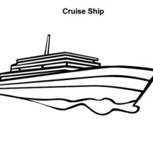 Cruise Ship Picture Coloring Pages