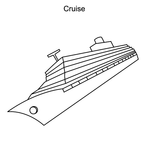 Cruise Ship Sinking Down Coloring Pages