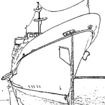 Cruise Ship at Marina Harbours Coloring Pages